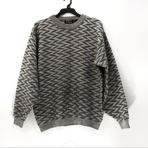 VTG Street Closed Oversized Zig Zag Sweater
